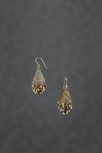 PAMdesigned Beaded Brass Wire Earrings - Lidia Earrings 2020