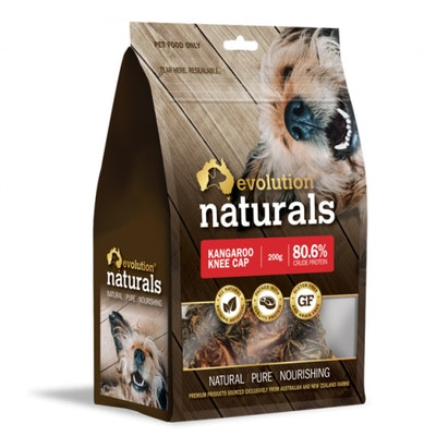 EVOLUTION NATURALS Kangaroo Knee Cap Dog Treats 200G