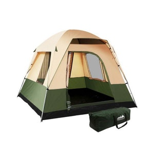 Weisshorn 4 Person Green Family Camping Tent
