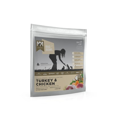 MEALS FOR MEOWS MFM Kitten Grain & Gluten Free Dry Cat Food Chicken & Turkey 2.5kg