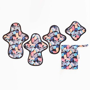 Designer Bums Cloth Sanitary Pad Trial Pack - Cassette Crew