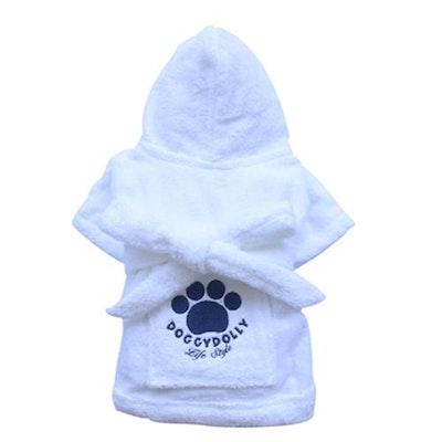 DoggyDolly BIG DOG - Bath Time White Doggy Robe