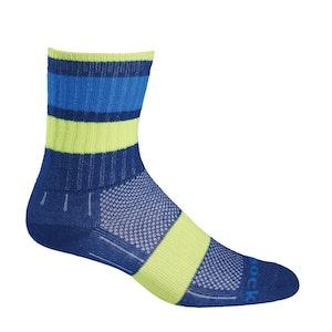 Wrightsock Blister-free Kids Escape - Crew Socks - Blue Stripes