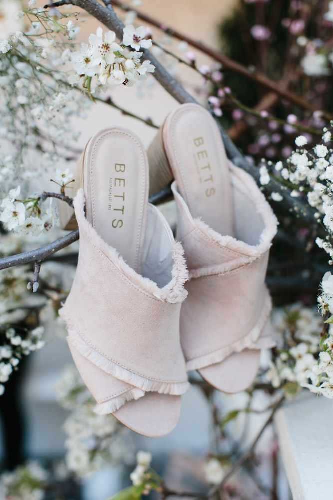 LENZO Betts Pink Mules Spring Racing