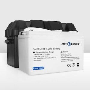 135AH AGM Battery 12V AMP Lead Acid SLA Deep Cycle Battery Dual Solar Power
