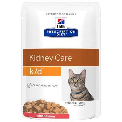 Hill's VET Hill's Prescription Diet K/D Kidney Care Salmon Pouches Wet Cat Food 85G