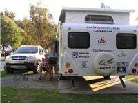 GoSee on the  job at Launceston Holiday Park