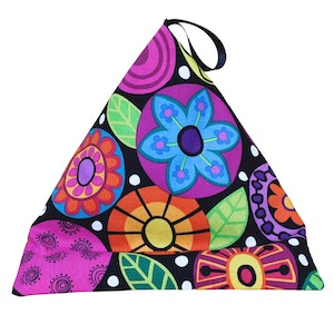 DIRECTLY TO YOU IN AUS  FUNKY FLOWERS - Phone, Book, Kindle, Tablet Pillow Stand, Mini Beanbag