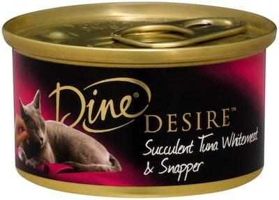 Dine Desire Wet Cat Food Succulent Tuna Whitemeat & Snapper 85g x 24
