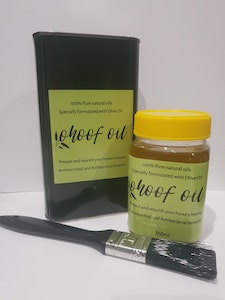 Horse and Olive Co  Classic refill package ohoof oil 350ml, plus brush and 1 litre refill