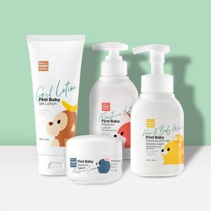 K-Mom First Skincare Set (Body Wash, Cream, Lotion & Gel Lotion)