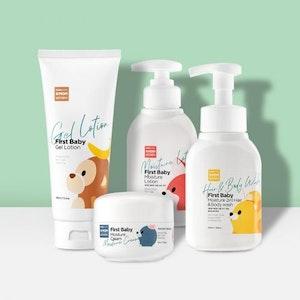 K-Mom First Skincare Set (Body Wash, Cream, Lotion & Gel Lotion)
