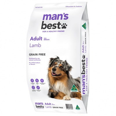 MAN'S BEST Mans Best Adult All Breeds Grain Free Dry Dog Food Lamb - 2 Sizes
