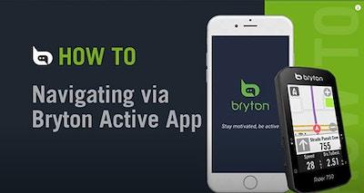 Bryton Rider 750 | Navigating via Bryton Active app