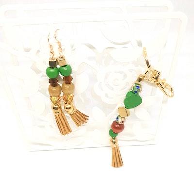 Rayhana's Store Sydney handmade beaded keycharm and earing set
