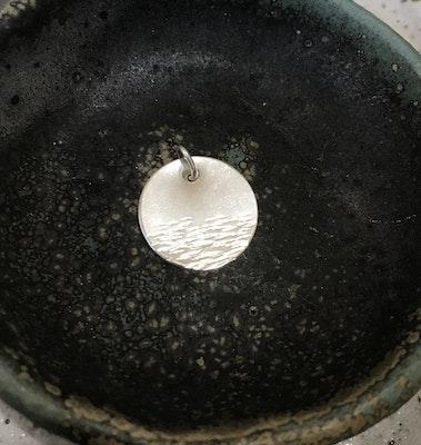 Sarah Munnings Jewellery Sterling silver wave pendant