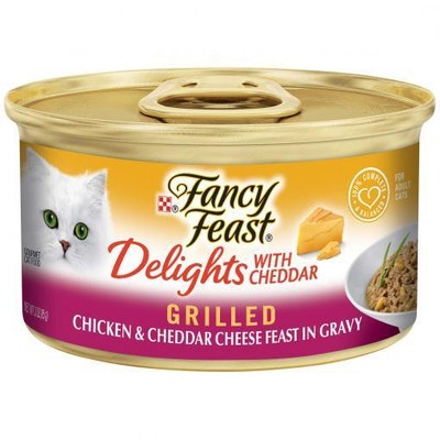 Fancy Feast Delights With Cheddar Grilled Chicken & Cheddar Cheese Wet Cat Food