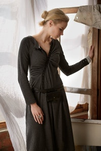 Quillan Lupin Dress - Hemp/organic cotton knit