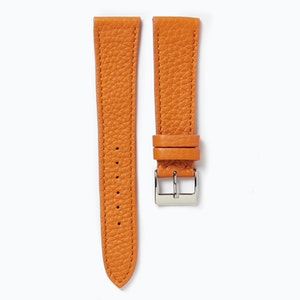 Time+Tide Watches  Orange Elegant Leather Watch Strap