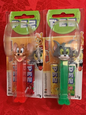 Tom & Jerry PEZ Dispensers Mint on Card
