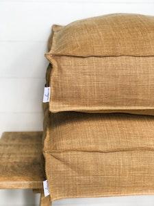 Floor Cushion Cover - Dune 100% Belgian Linen with Flange