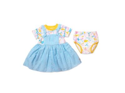 OETEO Australia Get Messy Baby Girl Dungaree Dress