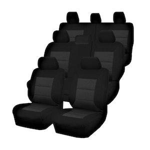 Premium Car Seat Covers For Toyota Landcruiser 200 Series 2007-2020 4X4 Suv/Wagon | Black