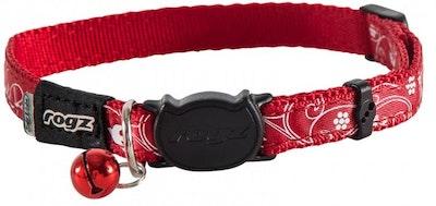 Rogz Collar Safeloc Silkycat Red