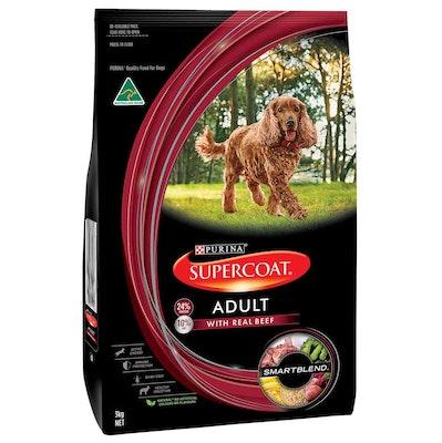 Supercoat Smartblend Adult Beef Dry Dog Food