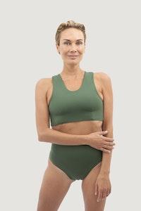 1 People Syros Crisscross Bikini in Seaweed Green