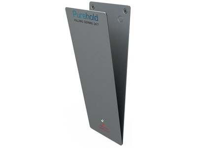 "Purehold ""Antibacterial Push Plate"" 400mm x 95mm including base plate and front push pad complete kit"
