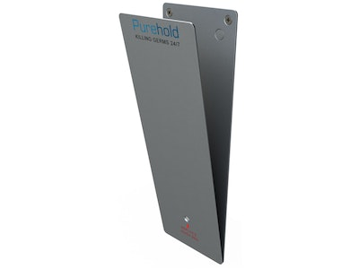 """Purehold """"Antibacterial Push Plate"""" XXL 600mm x 120mm including base plate and front push pad complete kit"""
