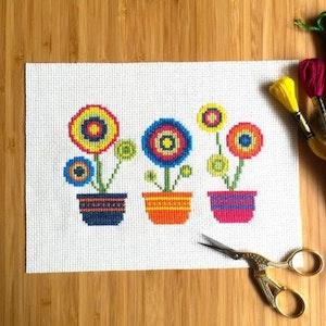 Flowerpot Cross Stitch Kit