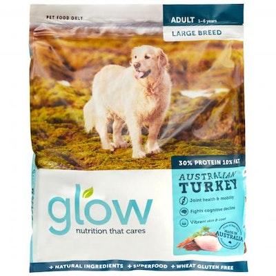 GLOW Adult Large Breed Australian Turkey Dry Dog Food 10kg