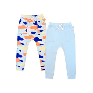 OETEO Australia Camo Flash Harem Pants 2-Piece Bundle Set (Blue)