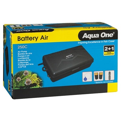 Aqua One Battery Air 250C Portable Air Pump 150L/H 10024 - Transport Bait Fishing Live Well