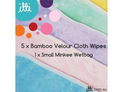 Baby Cloth Wipes with a Small Wetbag