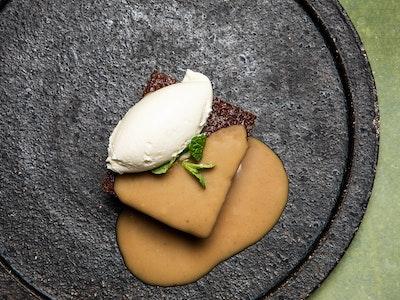 Sticky Tamarind Pudding with Tamarind Butterscotch