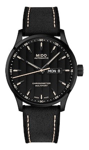 Mido Multifort Chronometer 1 - Stainless Steel with Black PVD - Black Fabric Strap