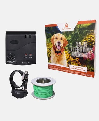 Pet Control HQ Waterproof Rechargeable Deluxe Electric Dog Fence System 1 Collar