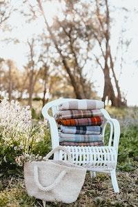 Autumn   Recycled Wool Scottish Tartan Blanket