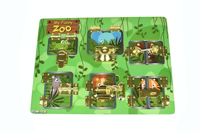 Kaper Kidz LATCHES PUZZLE MY FUNNY ZOO