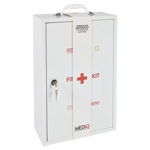 Mediq Essential Workplace Response First-Aid Kit - Metal Cabinet (Low Risk)
