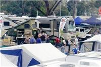 Melbourne Leisurefest had campers motorhomes and 4WD