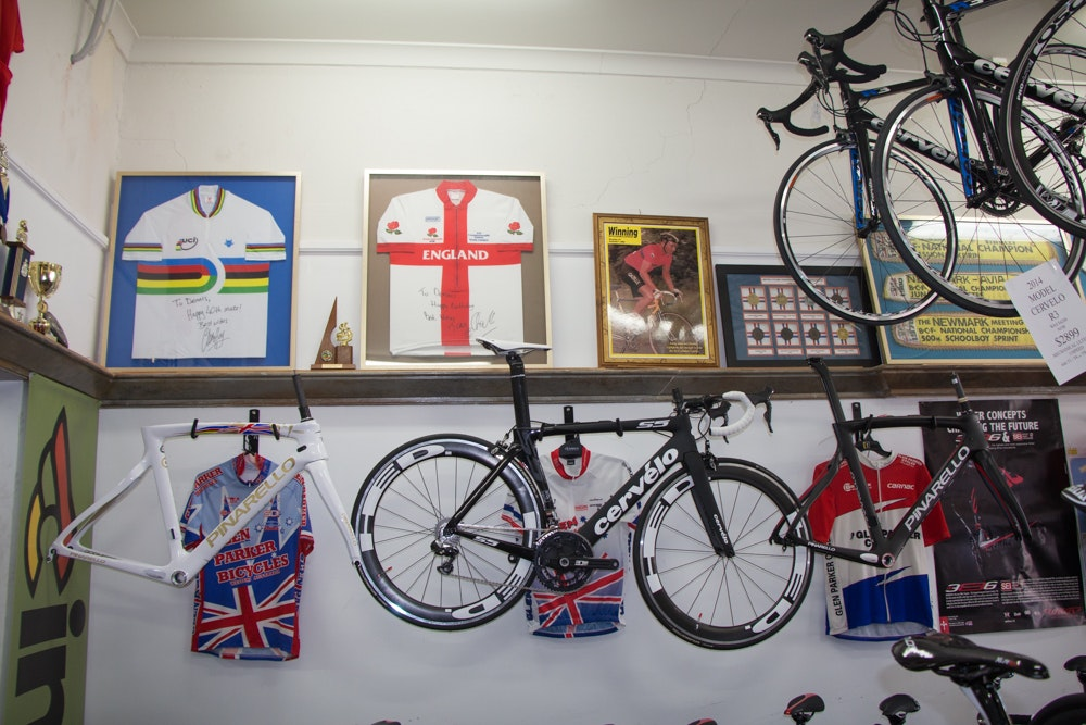Glen parker cervelo on wall