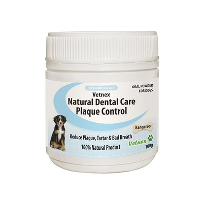 VETNEX Natural Dental Care Plaque Control Powder For Dogs & Cats - Kangaroo 100G