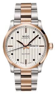 Mido Multifort Gent - Stainless Steel with Rose Gold PVD - Stainless Steel Rose Gold PVD Bracelet