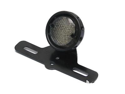 Matte Black Aluminium LED Stop Tail Light - Smoked Lens