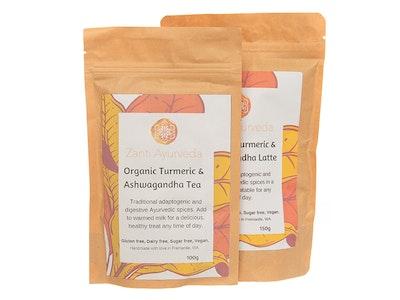 Zanti Ayurveda Organic Tumeric & Ashwaghanda Tea