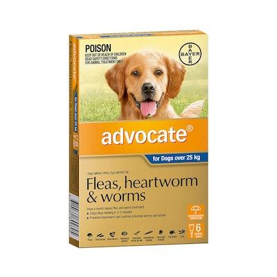 Advocate Dog Over 25KG 6 Tubes